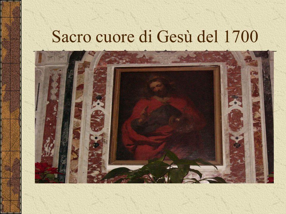 Sacro cuore di Gesù del 1700