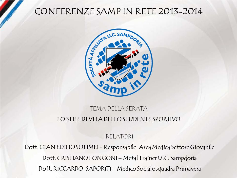 CONFERENZE SAMP IN RETE 2013-2014