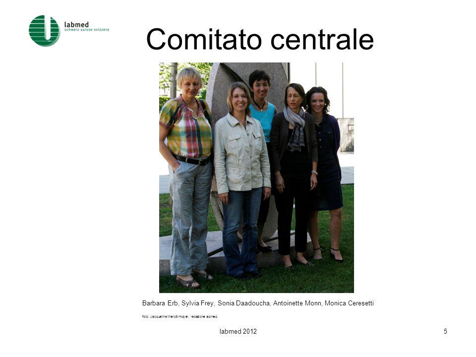 Comitato centrale Barbara Erb, Sylvia Frey, Sonia Daadoucha, Antoinette Monn, Monica Ceresetti foto: Jacqueline Merlotti-Noyer, redazione labmed.