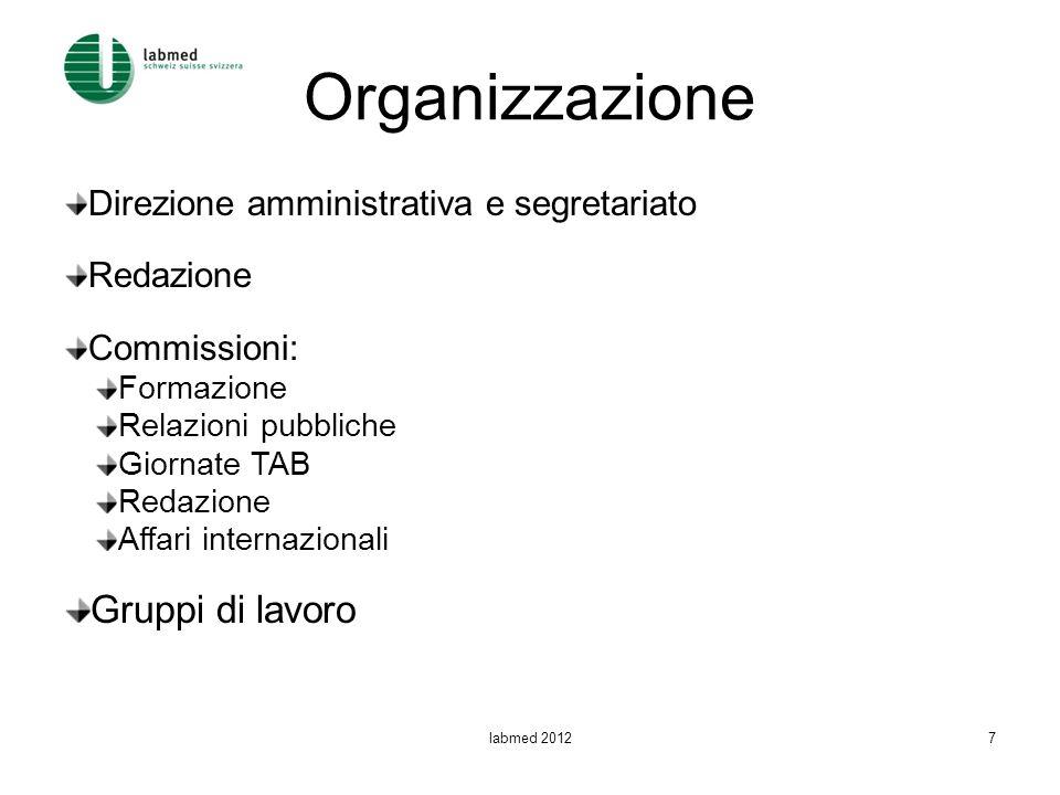 Organizzazione Gruppi di lavoro