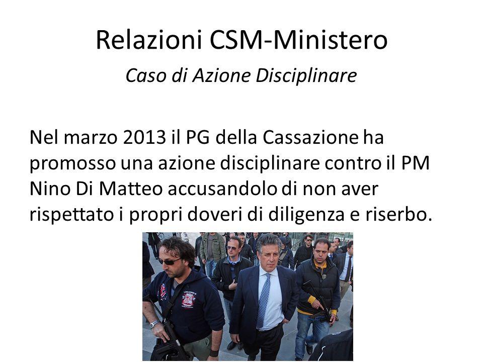 Relazioni CSM-Ministero