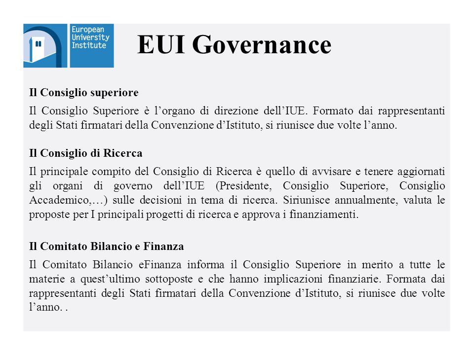 EUI Governance Il Consiglio superiore