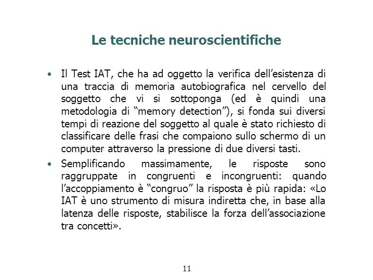 Le tecniche neuroscientifiche