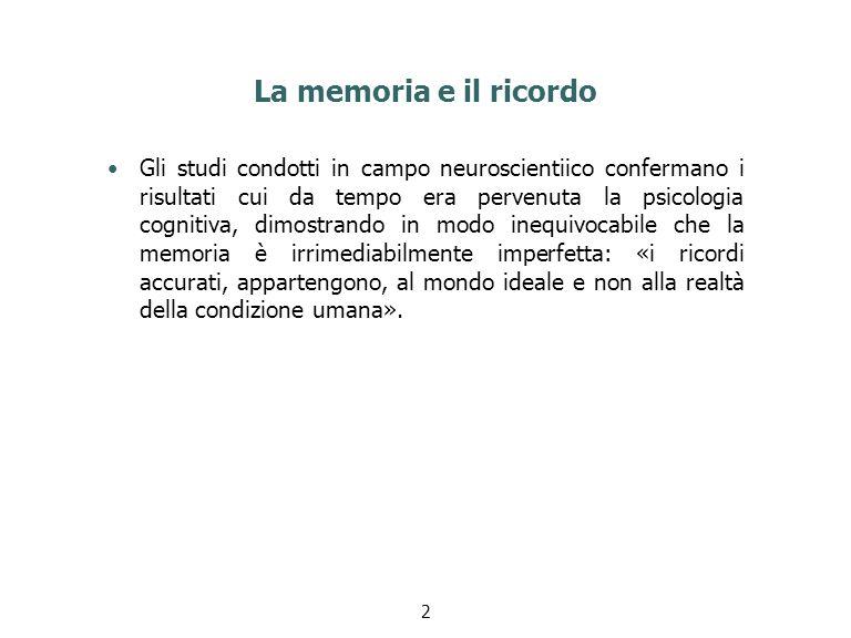 La memoria e il ricordo