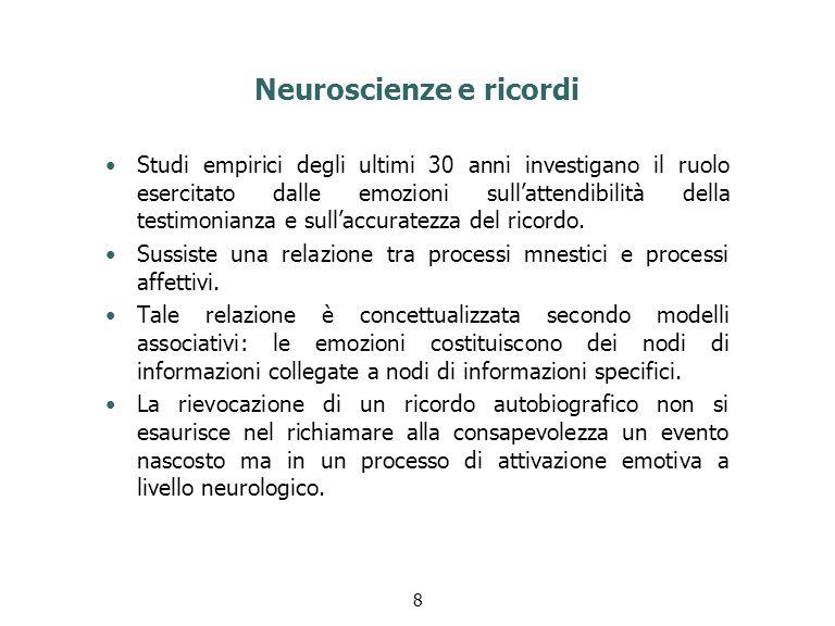 Neuroscienze e ricordi