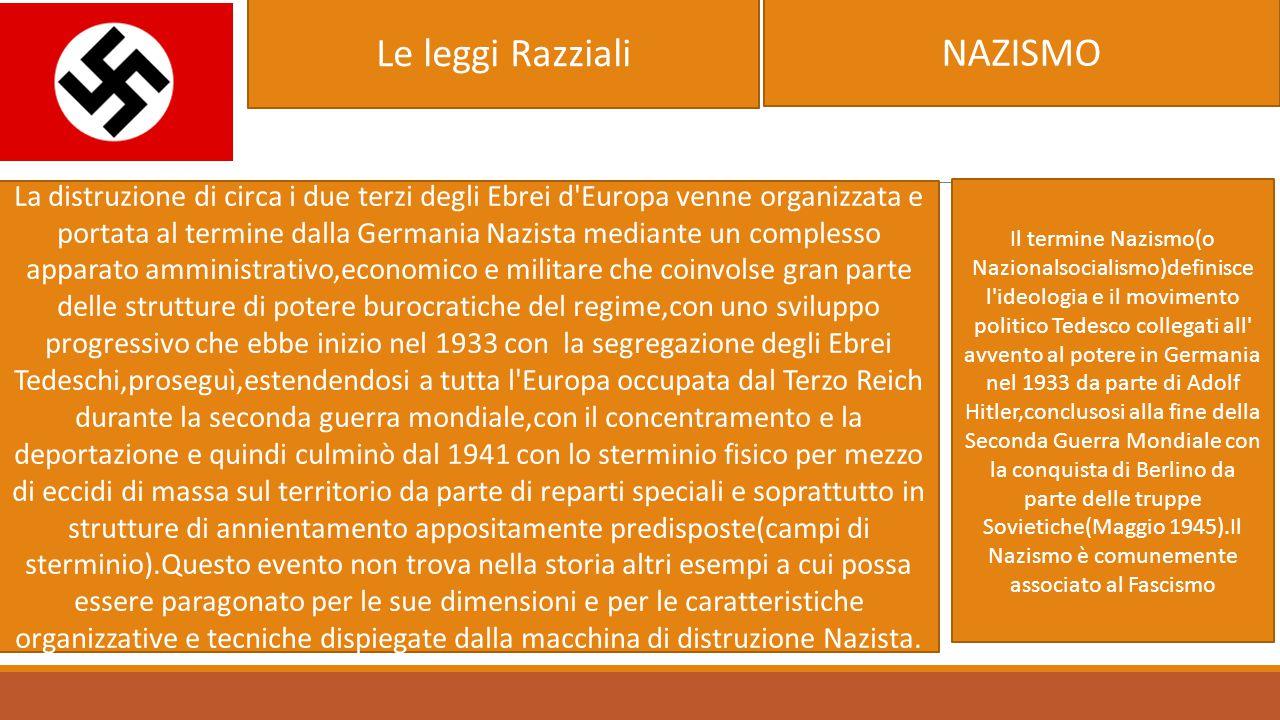 Le leggi Razziali NAZISMO