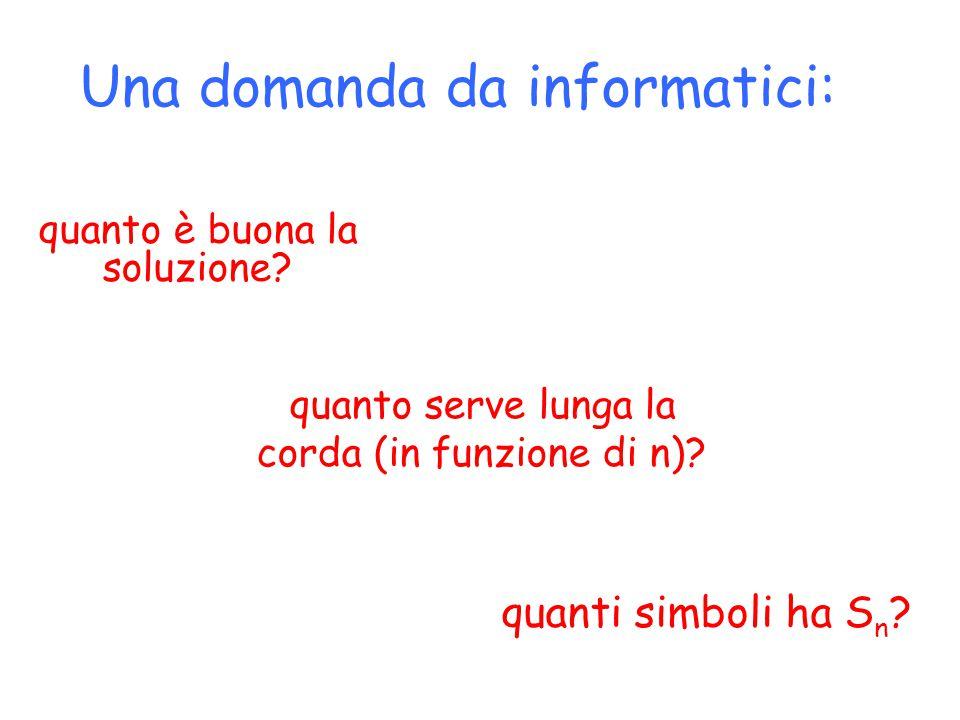 Una domanda da informatici: