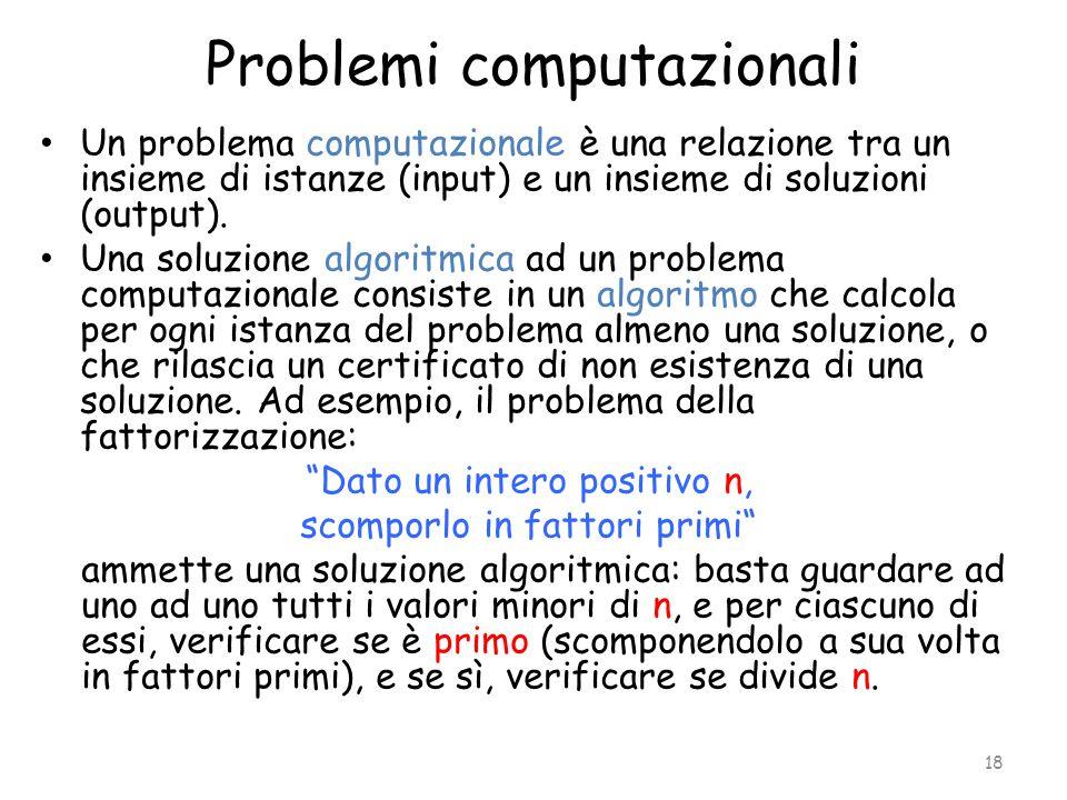 Problemi computazionali