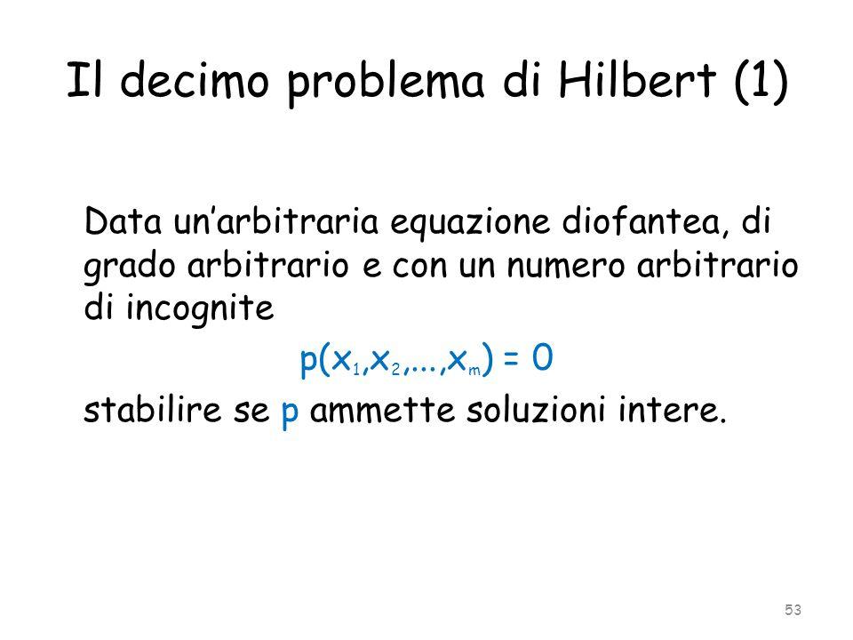 Il decimo problema di Hilbert (1)