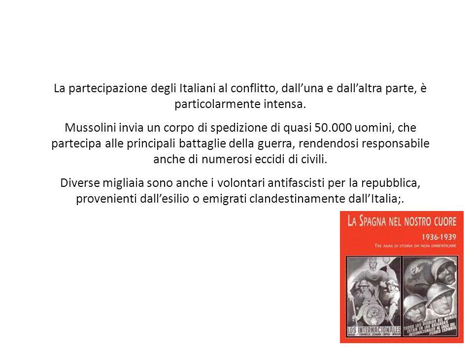 La partecipazione degli Italiani al conflitto, dall'una e dall'altra parte, è particolarmente intensa.