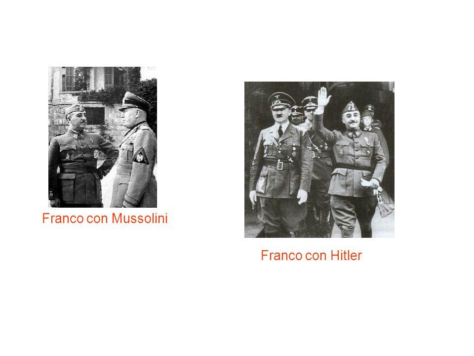 Franco con Mussolini Franco con Hitler