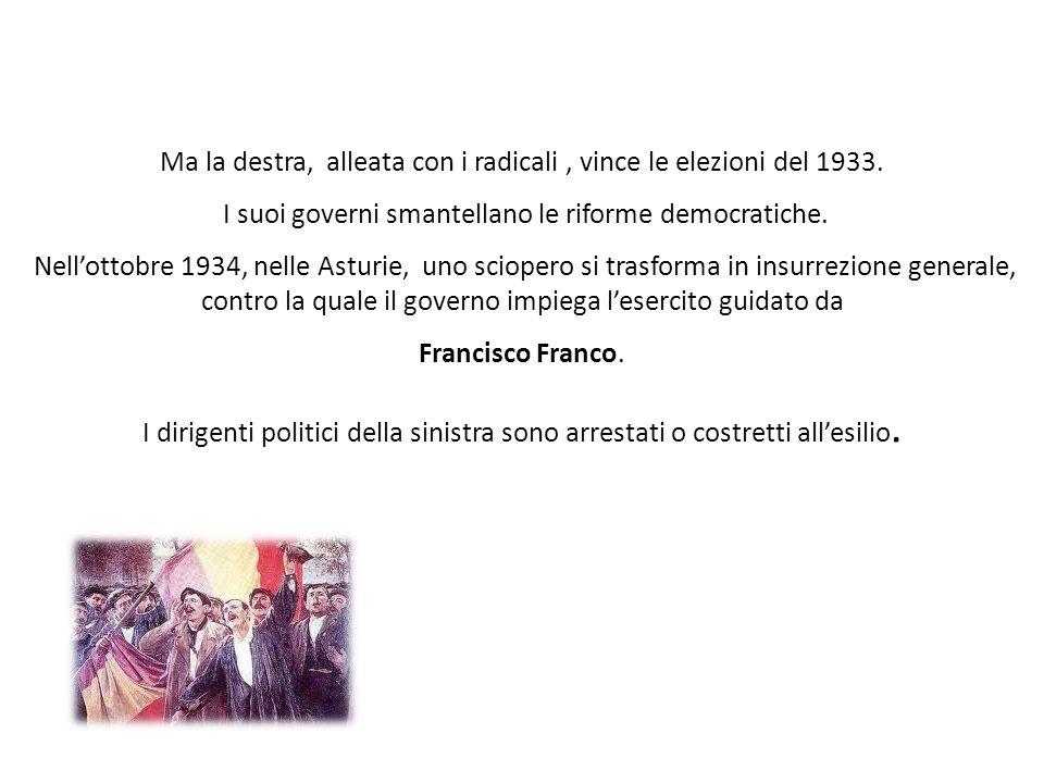 Ma la destra, alleata con i radicali , vince le elezioni del 1933.