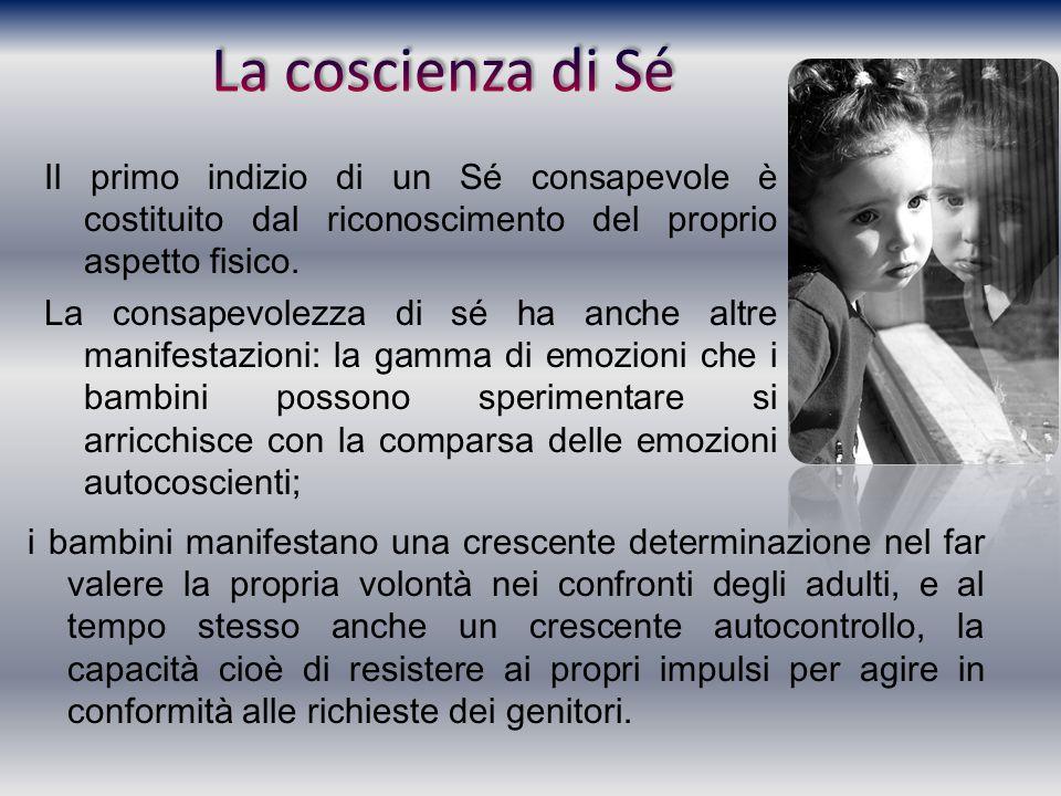 La coscienza di Sé Il primo indizio di un Sé consapevole è costituito dal riconoscimento del proprio aspetto fisico.