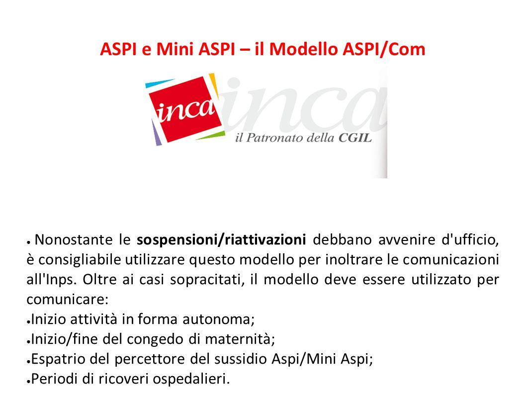 ASPI e Mini ASPI – il Modello ASPI/Com