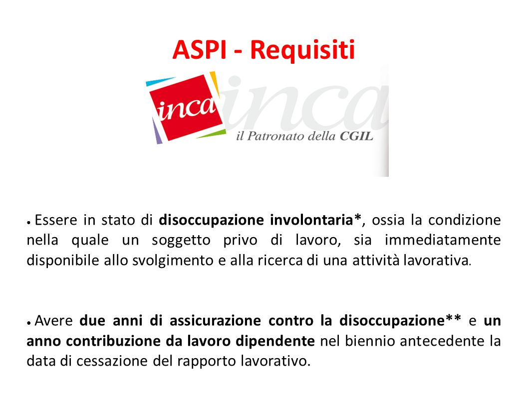 ASPI - Requisiti