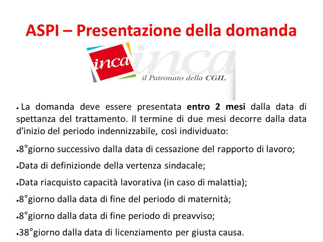 ASPI – Presentazione della domanda
