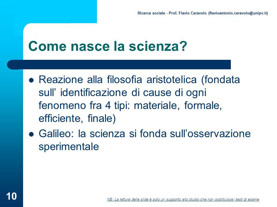 Ricerca sociale - Prof. Flavio Ceravolo (flavioantonio. ceravolo@unipv