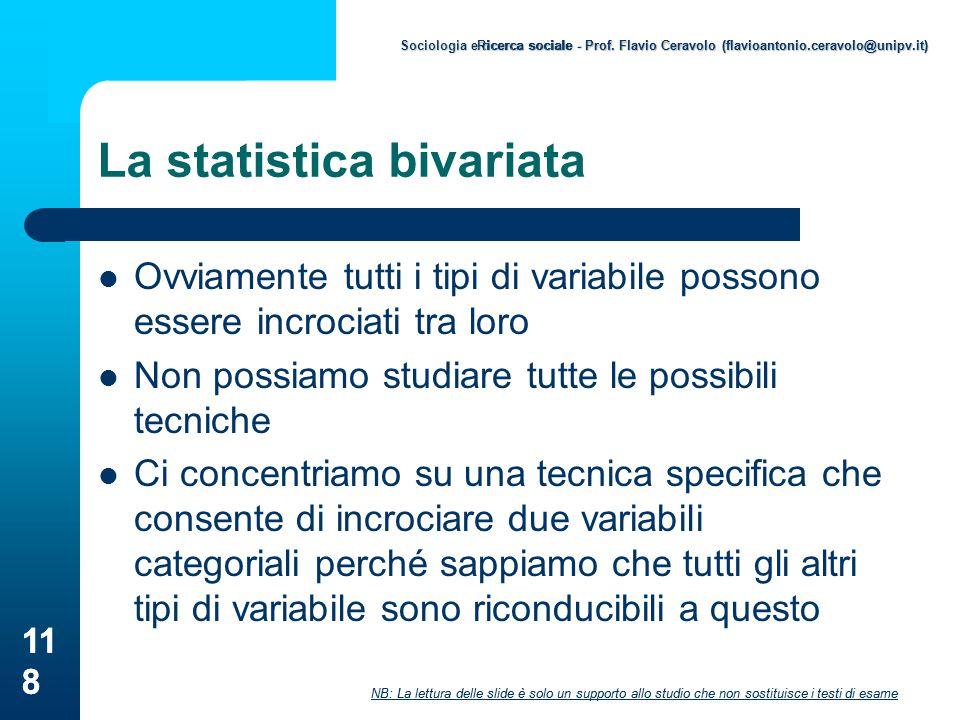 La statistica bivariata