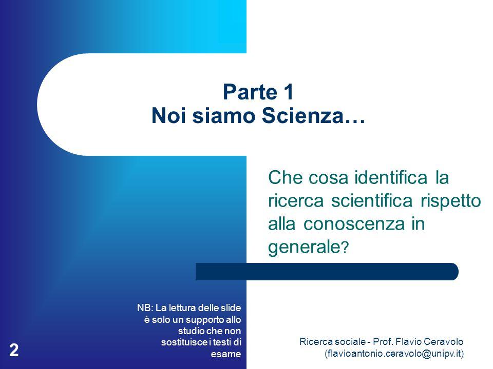 Parte 1 Noi siamo Scienza…