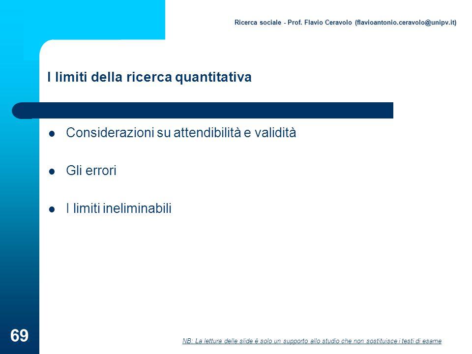 I limiti della ricerca quantitativa