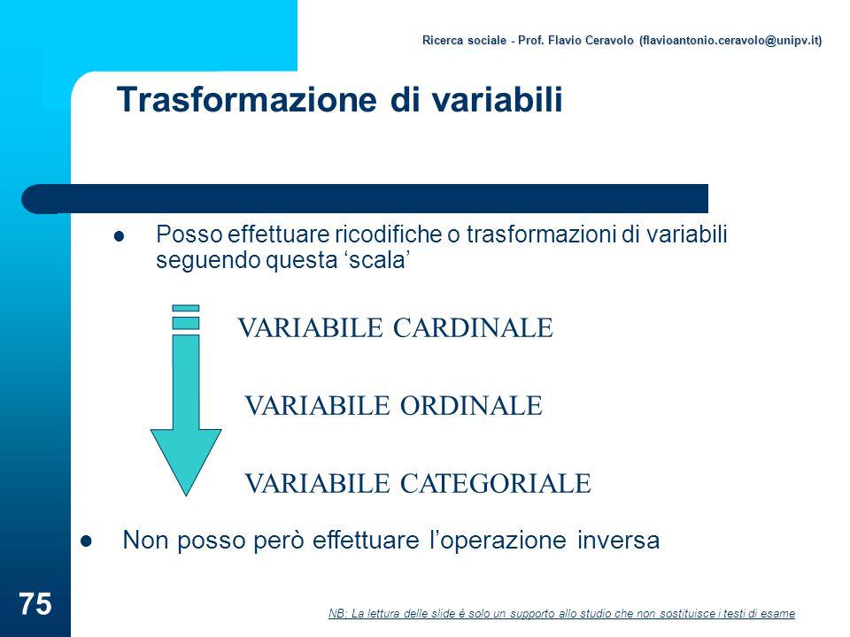 Trasformazione di variabili
