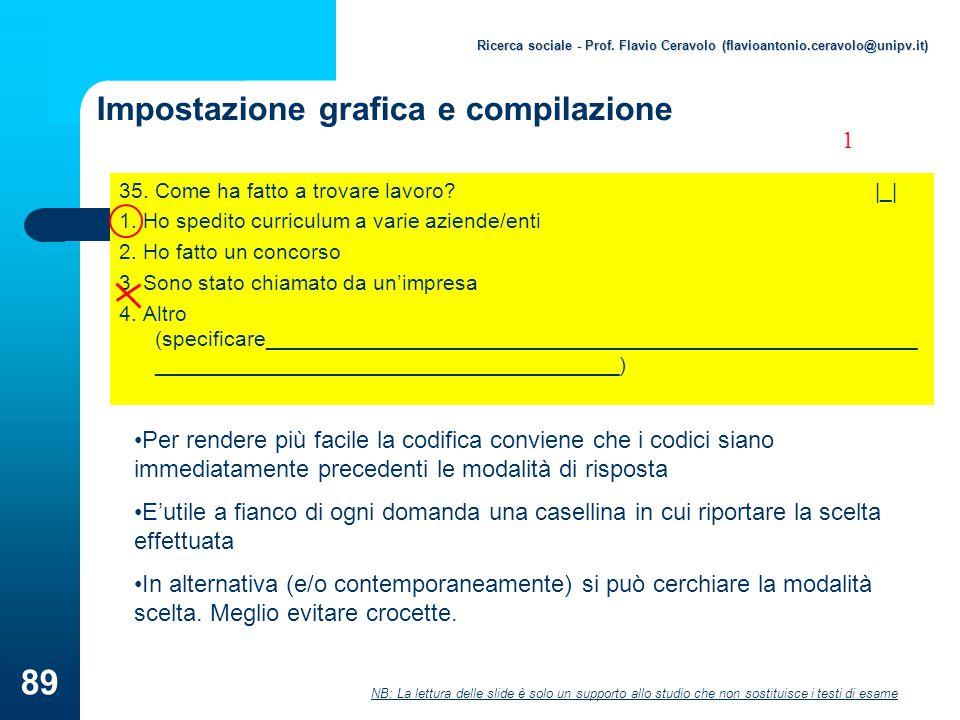 Impostazione grafica e compilazione