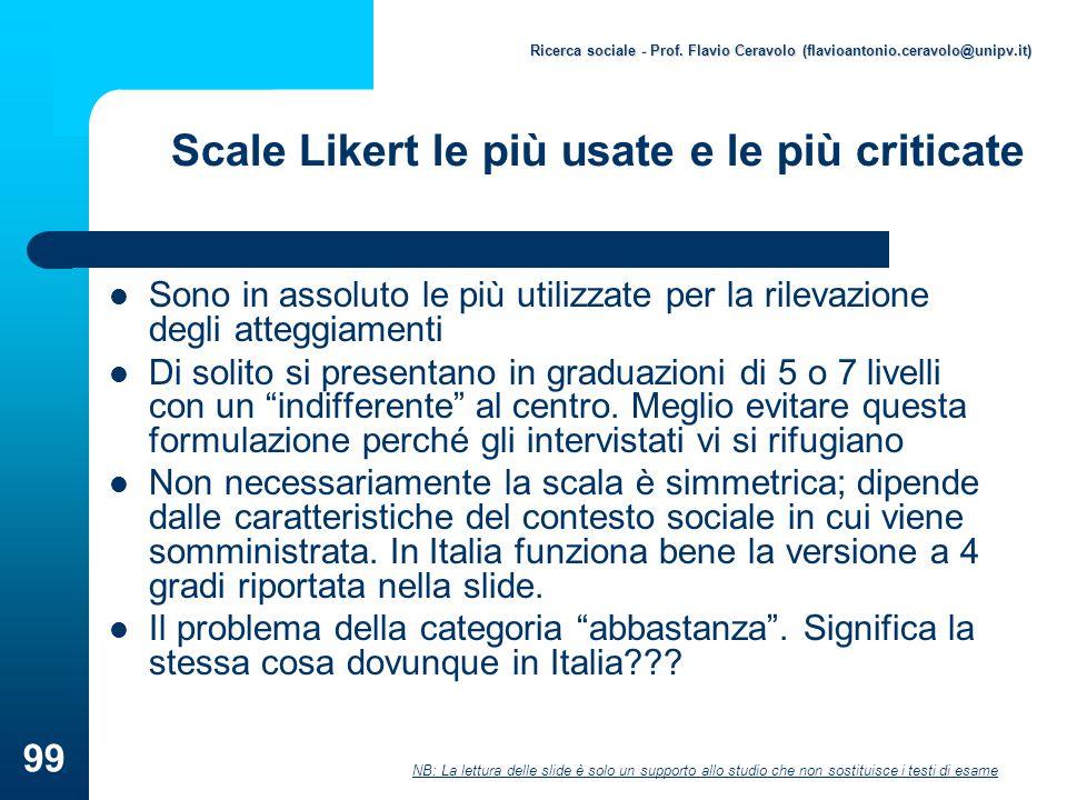 Scale Likert le più usate e le più criticate