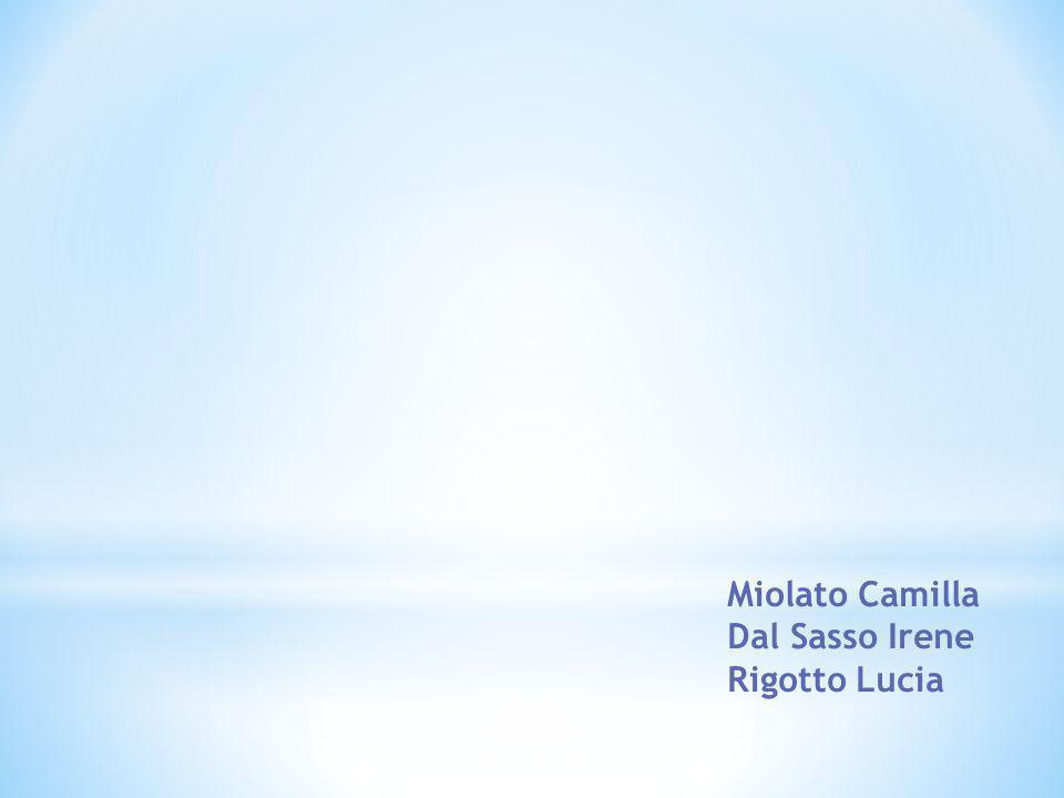 Miolato Camilla Dal Sasso Irene Rigotto Lucia