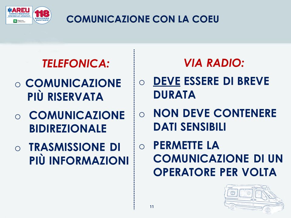 COMUNICAZIONE CON LA COEU