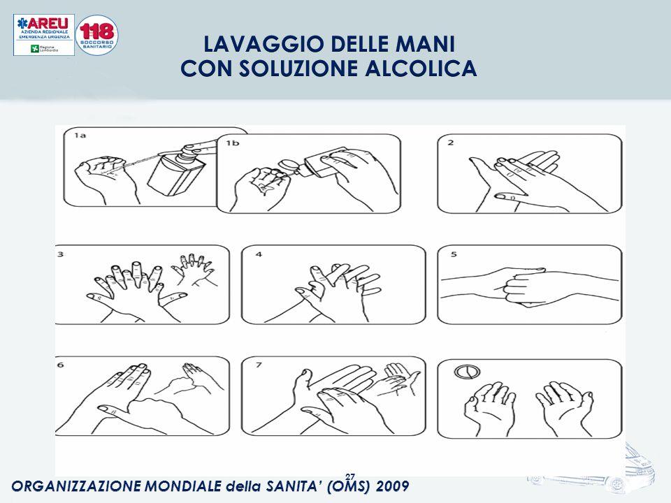 LAVAGGIO DELLE MANI CON SOLUZIONE ALCOLICA