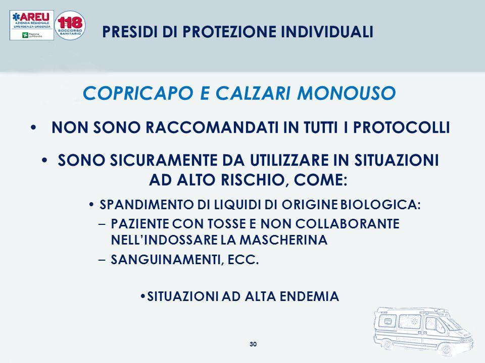COPRICAPO E CALZARI MONOUSO