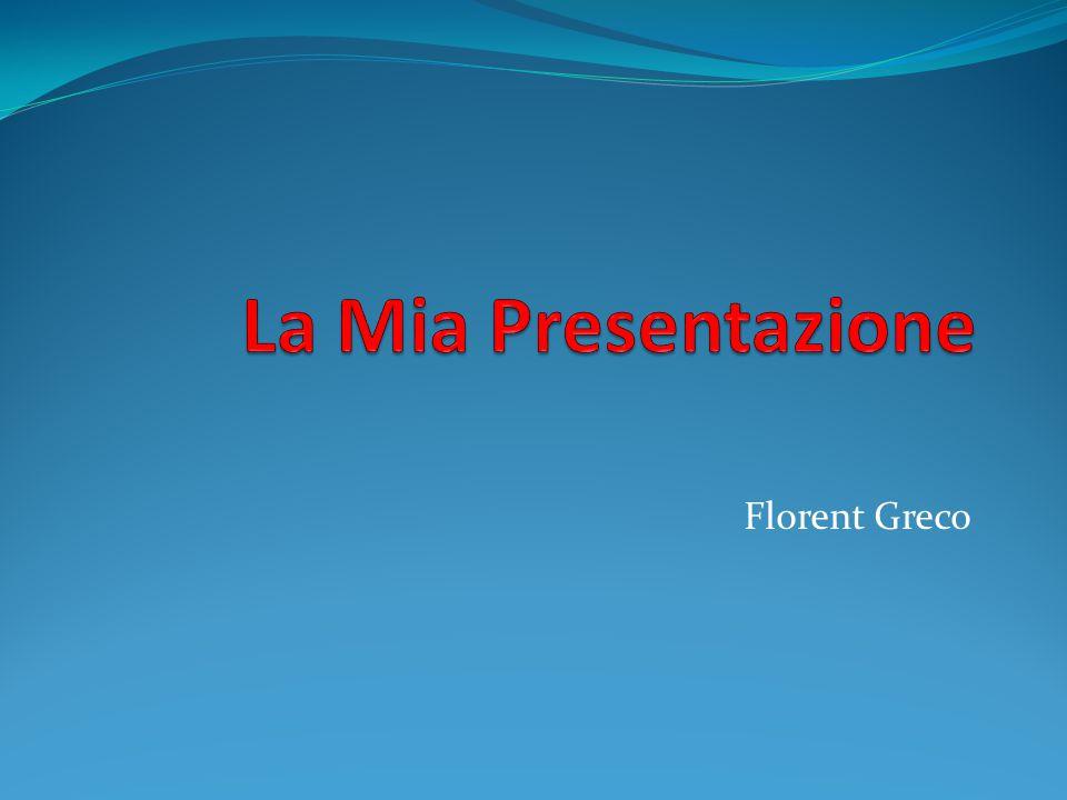 La Mia Presentazione Florent Greco