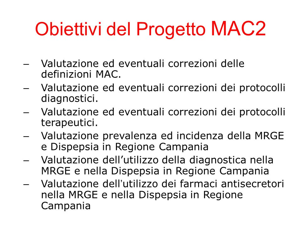 Obiettivi del Progetto MAC2