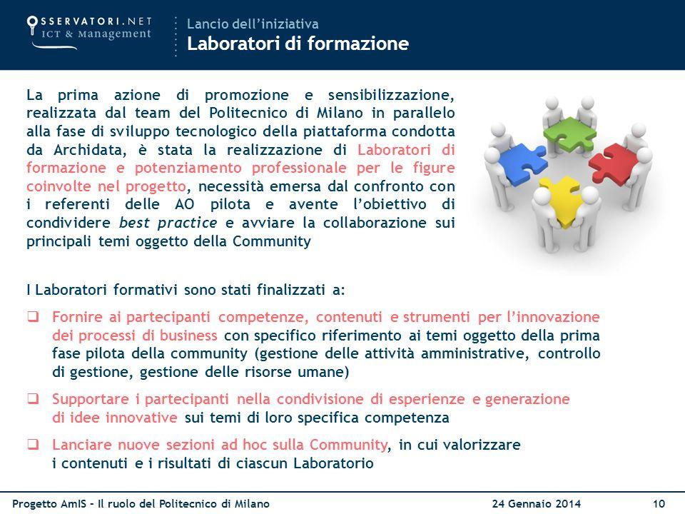 I Laboratori formativi sono stati finalizzati a: