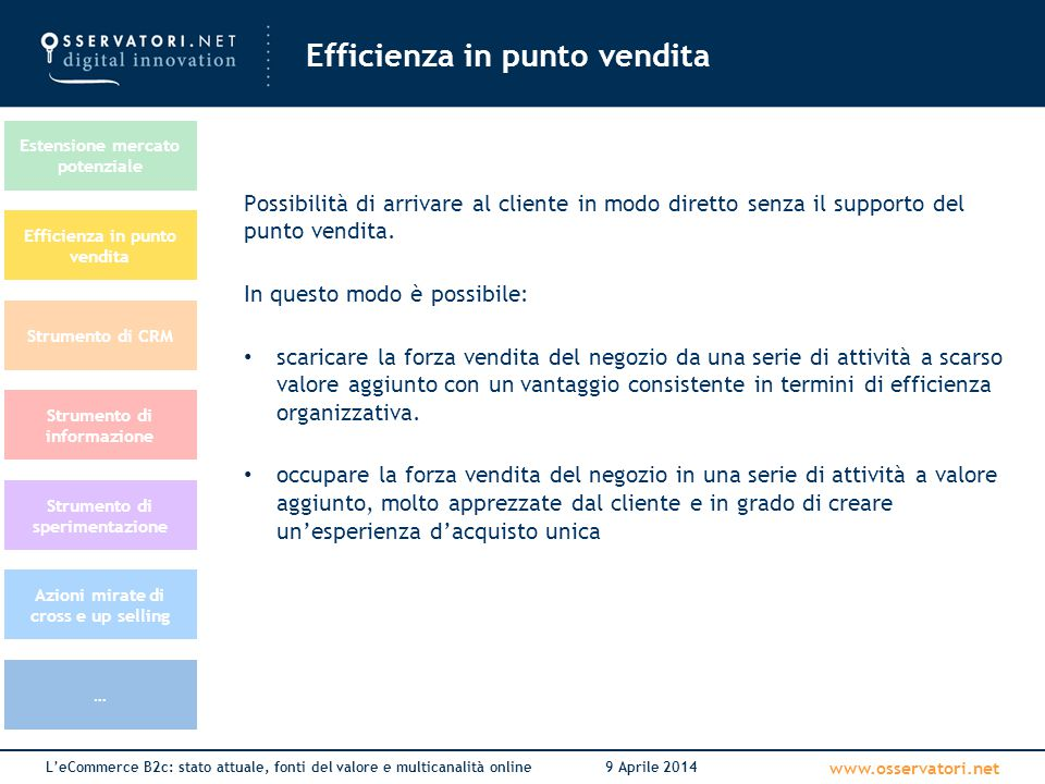 Efficienza in punto vendita