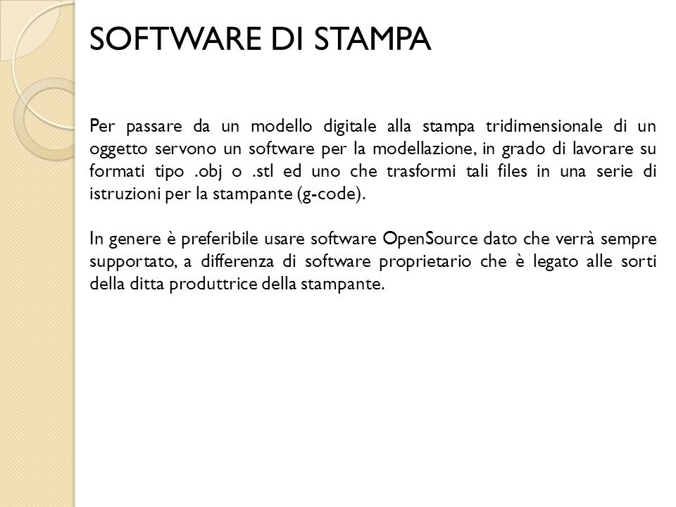 SOFTWARE DI STAMPA