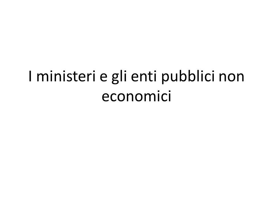 I ministeri e gli enti pubblici non economici
