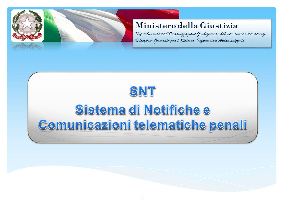 SNT Sistema di Notifiche e Comunicazioni telematiche penali