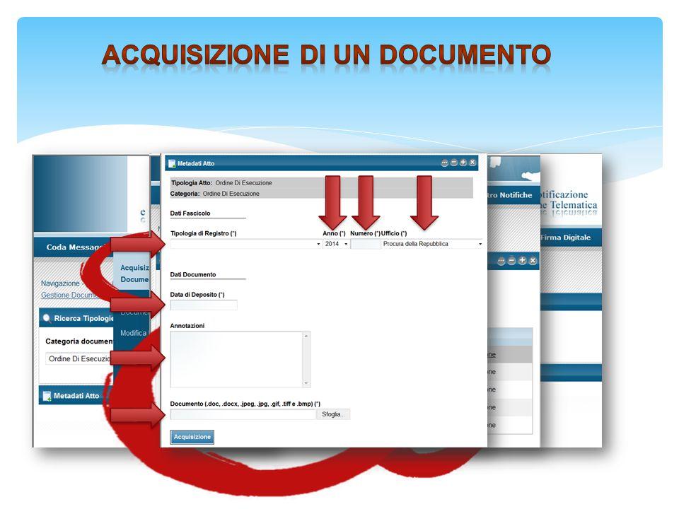 Acquisizione di un documento