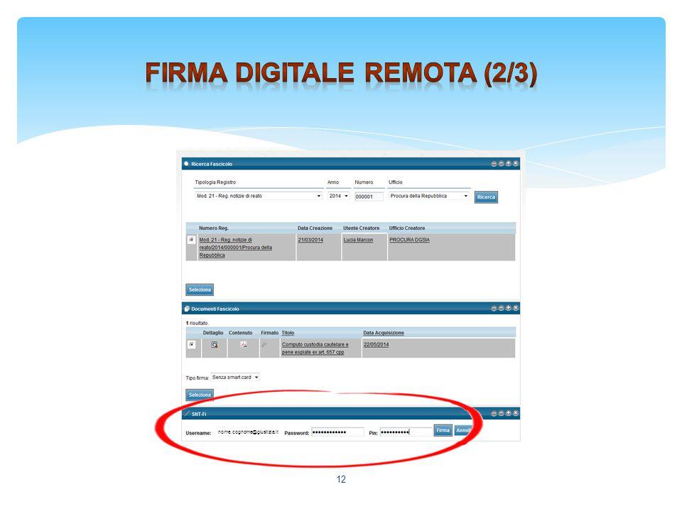 Firma digitale remota (2/3)