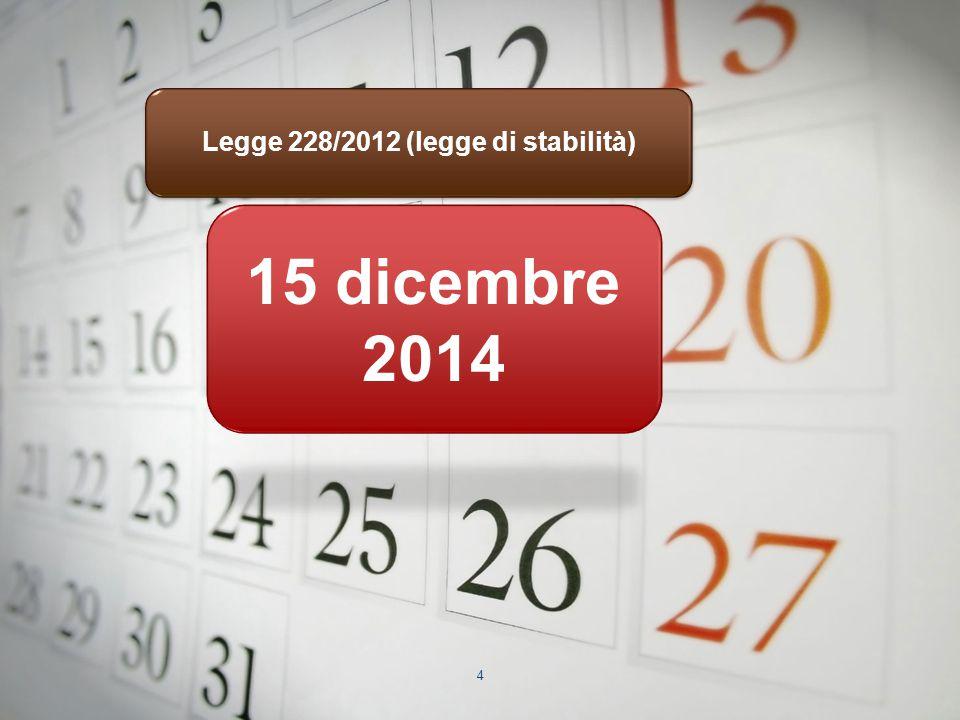 Legge 228/2012 (legge di stabilità)