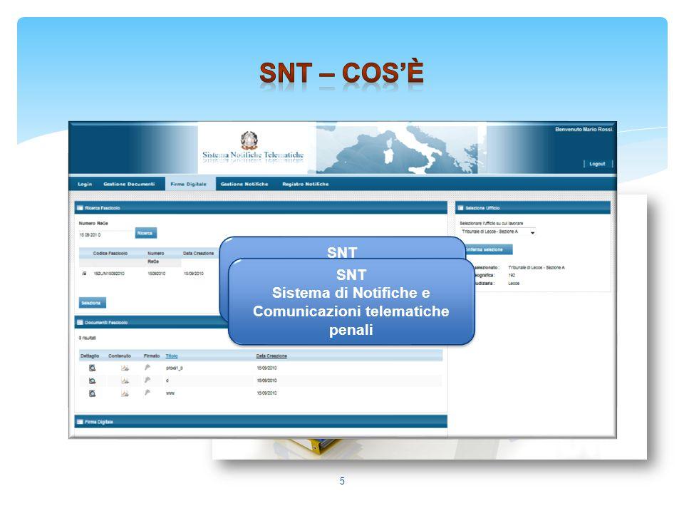 SNT – Cos'è SNT Sistema di Notifiche e Comunicazioni telematiche penali.