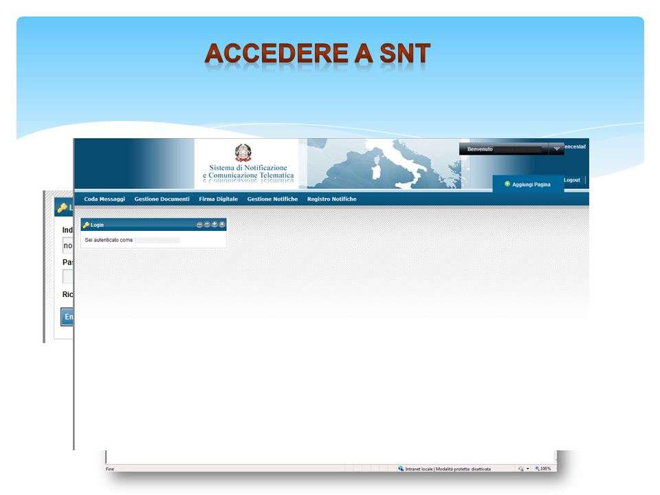 http://10.6.215.53/liferay/ Accedere a snt