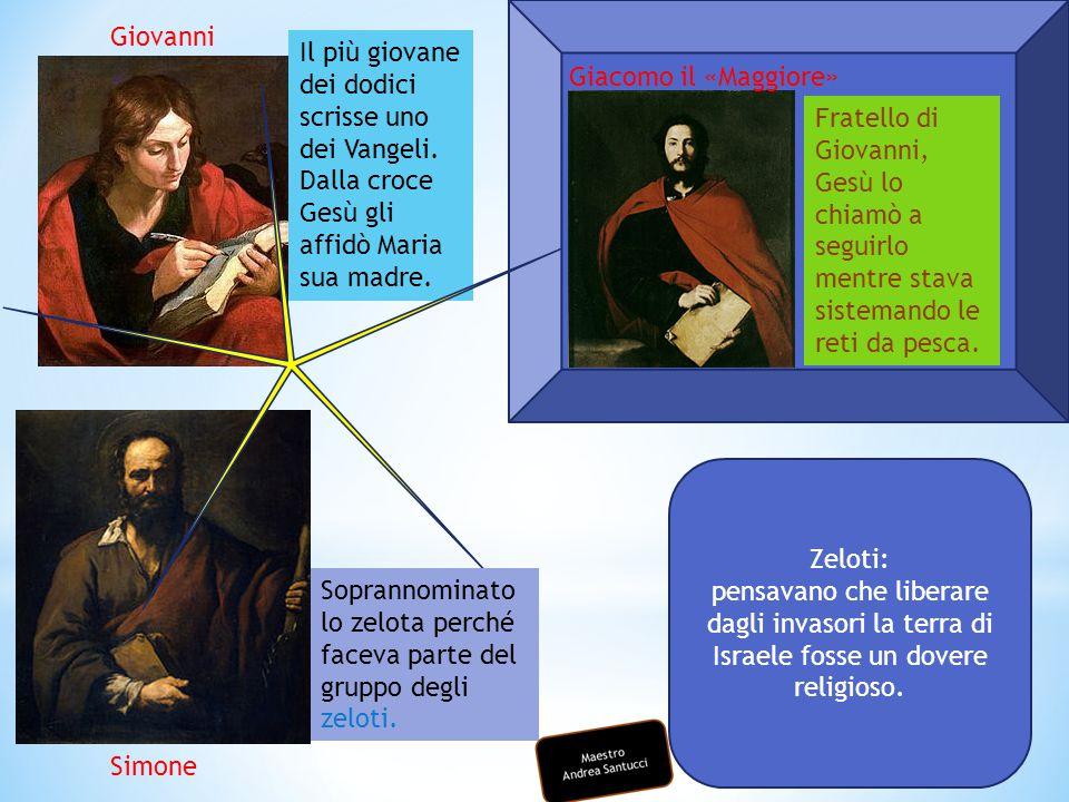 Giovanni Il più giovane dei dodici scrisse uno dei Vangeli. Dalla croce Gesù gli affidò Maria sua madre.