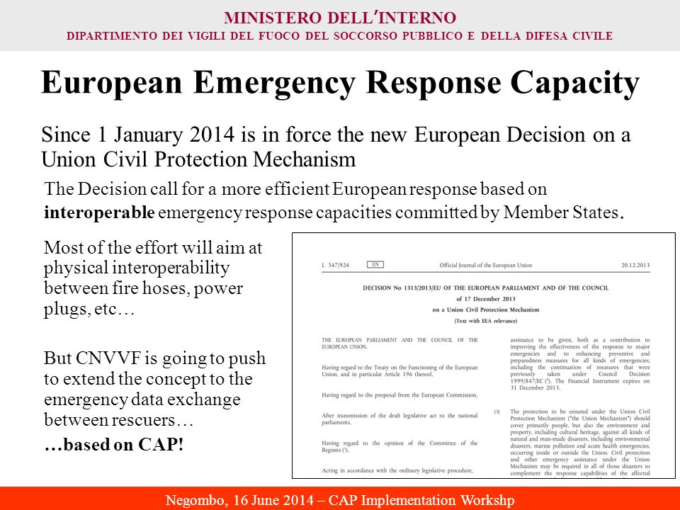 European Emergency Response Capacity