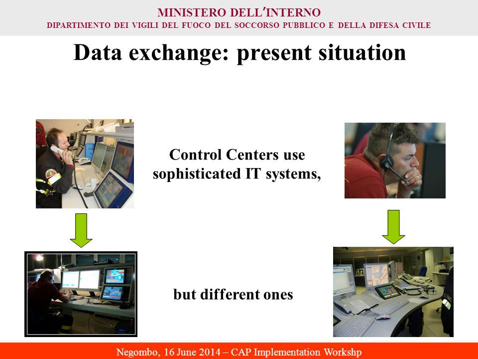 Data exchange: present situation