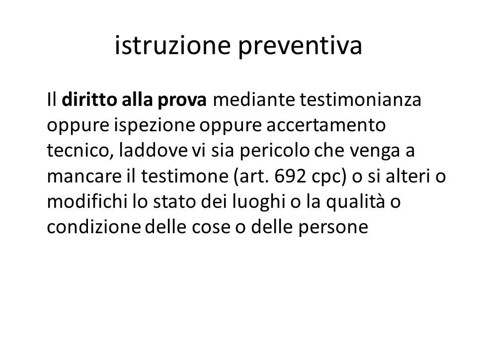 istruzione preventiva