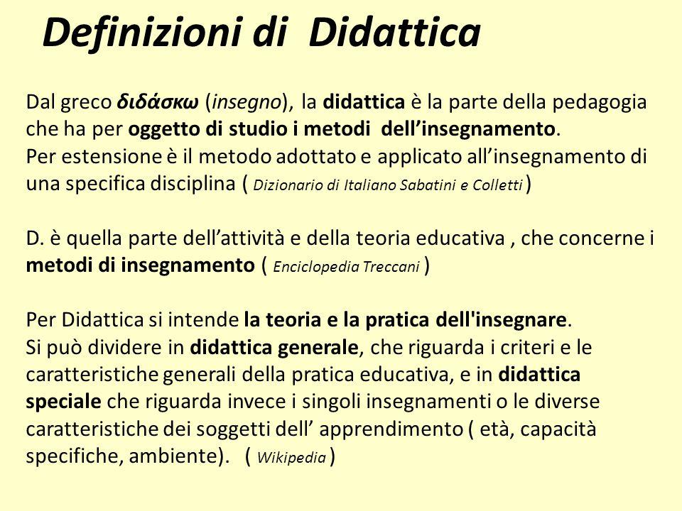 Definizioni di Didattica