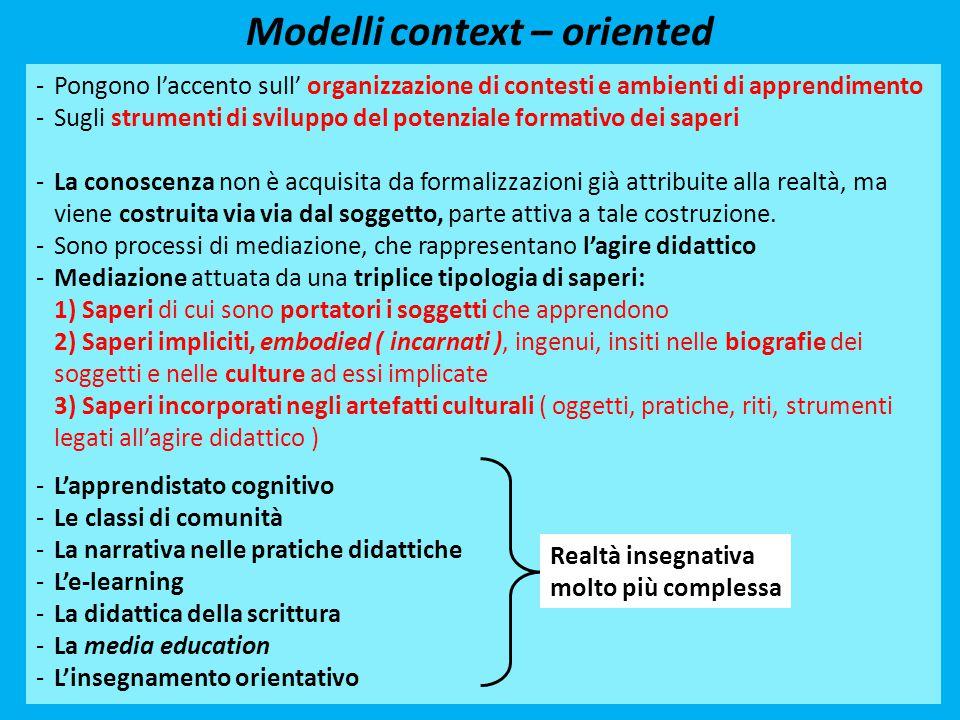 Modelli context – oriented