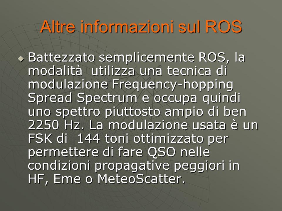 Altre informazioni sul ROS